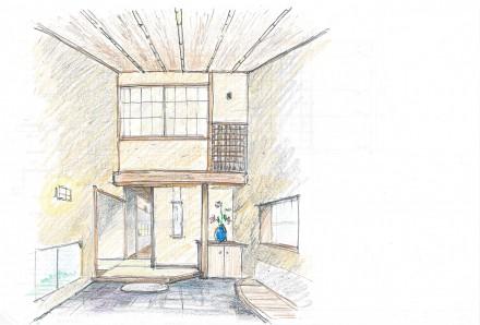 武蔵野の家:スケッチ2