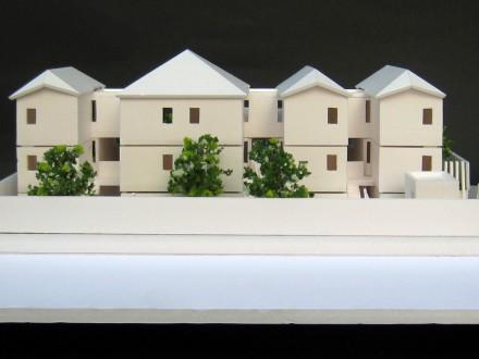毛利町のマンション:スタディ模型